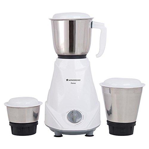 Wonderchef Prime 500-Watt Mixer Grinder with 3 Jars (White)