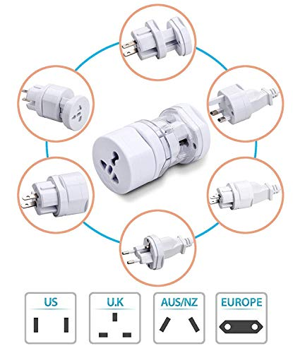 Azacus Universal Long Travel All in 1 Adaptor Compatible with Smartphones,