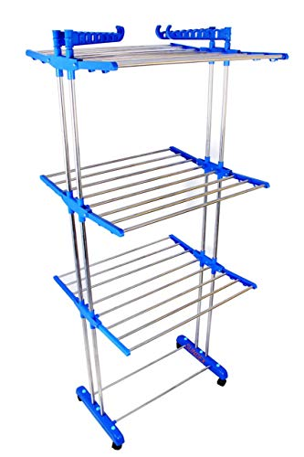 LAKSHAY Cloth Dryer Stand Blue Colour