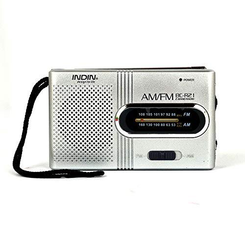 Tooarts TM125 Mini Radio Portable Speaker AM FM Adjustable Telescopic Antenna Pocket Radios