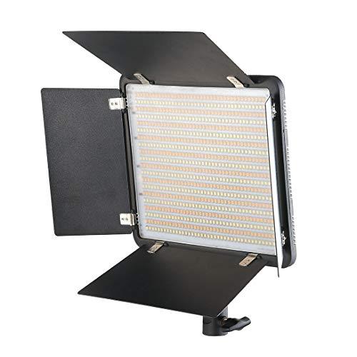 Simpex LED-800 with Barndoor – Professional LED Panel for Videography and Photography with AC Adapter