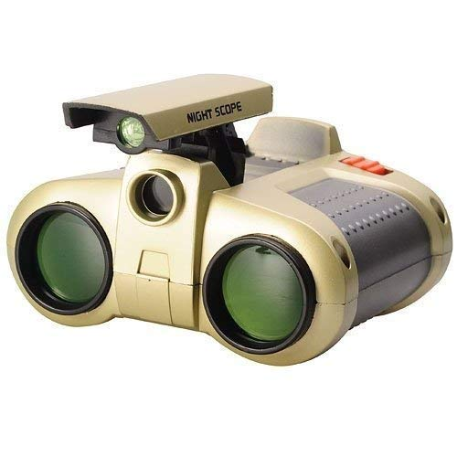 Mbuys Mall Binoculars for Kids Children Night Vision Device 4x30 Binoculars Night Scope with Pop-up Spotlight and Night-Beam Vision Focusing Telescope Night Vision Binoculars Goggles Fun Cool Toy Gift