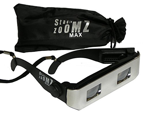 StadiumZoomz Max Sports viewer Binocular Glasses - Chrome. Telescope Lenses, Zoom in for Sports,Concerts,etc