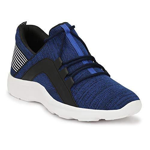 SHOE DAY Men's Blue Canvas Sneaker Ind/UK-9