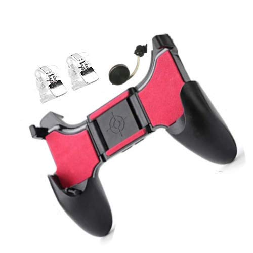 I-Birds Enterprises PUBG Mobile Phone 5 In 1 Gamepad Controller Shooter Gaming Button Handle with Stent Trigger, L1 R1 Fire Shooter Buttons 1 Joystick, 2 Trigger , 1 Gamepad for Android iOS Phones