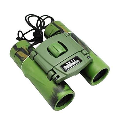 PROTOSINDIA.NET™ Binoculars For Long Distance for Adults Folding Binocular 8x21 8x Zoom Folding Military Green Binocular for Bird Watching For Astronomy Ultra High Power Lens Professional HD High Quality Compact Green Mini Binoculars