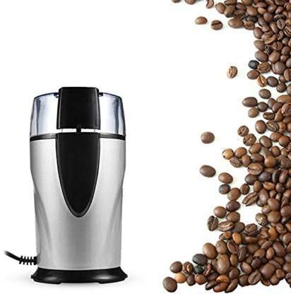 Hiki Ziki Coffee Grinder Electric - Small & Compact Simple Touch Blade Mill - Automatic Grinding Tool Appliance for Whole Coffee Beans, Spices, Herbs & Nuts