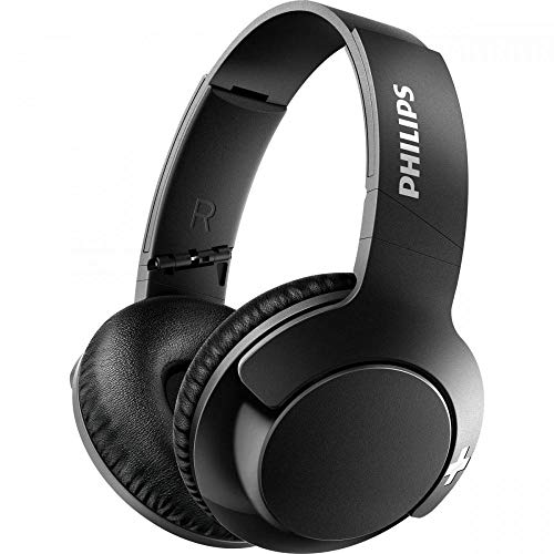 Philips Bass+ Bluetooth Headset SHB3175BK with Mic, 12 Hrs of Playtime (Black)