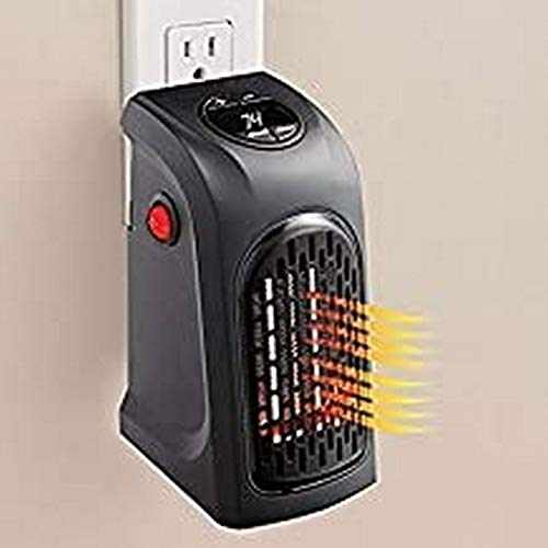 Jsv Shop Portable Heater, 400W Handy Heater Compact Plug-in Portable Digital Electric Heater Fan Wall-Outlet Handy Air Warmer Blower Adjustable Timer Digital Display for Home/Office/Camper.