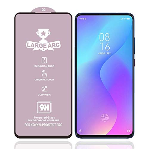 LIDGRHJTHTGRSS Mobile Phone Replacement Screen Protectors for Xiaomi Redmi K20 9H HD Large Arc High Alumina Full Screen Tempered Glass Film