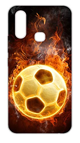 BFA Creation Football Printed Vivo Y15 Mobile Soft Mobile Back Cover Case for Vivo y15 for Boys