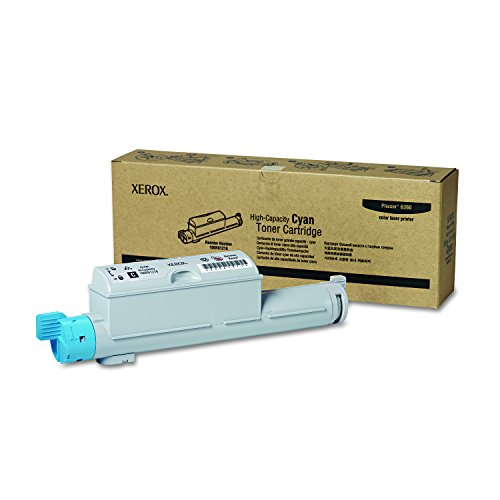 Genuine Xerox High Capacity Cyan Toner Cartridge for The Phaser 6360, 106R01218