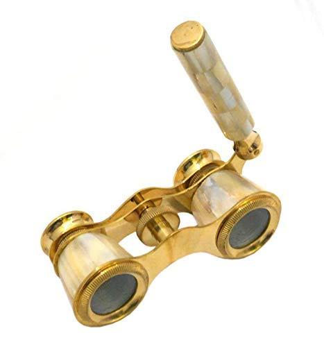U.K MART Brass Antique Brass Traveling Telescope Binoculars Monocular