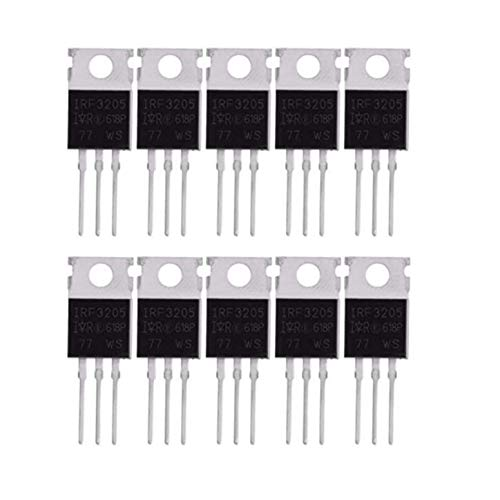 Electrosonica Power Mosfets IRF3205 10pcs/Lot,New & Original for Car Amplifier/Solar Controller/inverter/UPS Servicing