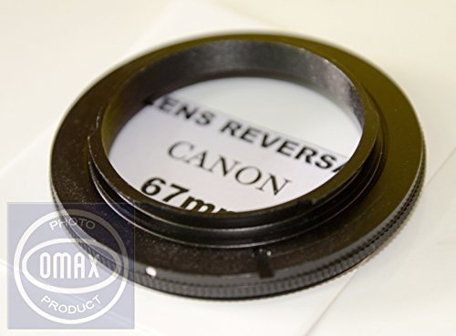 Omax 67mm Lens Reversal Ring for Macro Photography for Canon