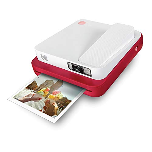 KODAK Smile Classic Digital Instant Camera for 3.5 x 4.25 Zink Photo Paper - Bluetooth, 16MP Pictures (Red)