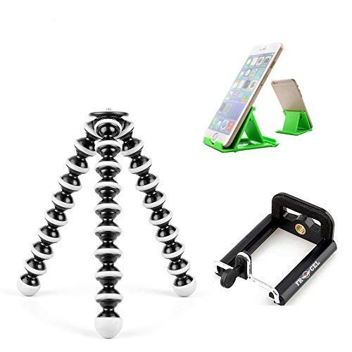Kimloo--Combo Offer-Universal Flexible Gorilla Tripod | Mobile Attachment for Action Cameras Flexible Body 10 inch| Compatible with All Devices