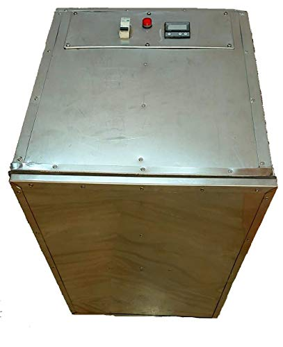 Aaswad Impex LLP Aaswad; Impex LLP Stainless Steel Dehydrator for Food; Fruit - Vegetable Preserver Dehydration Machine with 9 Non Perforated Stainless Steel Trays