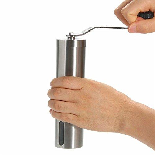 FWQPRA Coffee Grinders Stainless Steel Silver Handmade Coffee Bean Grinding Machines Mill Kitchen Grinding Tools