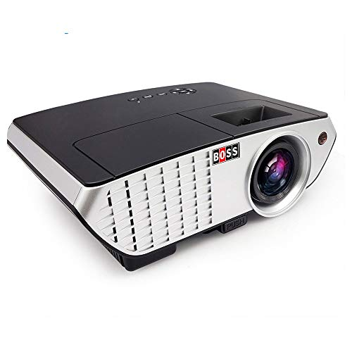 "Boss S3 LED HD Home Theater Projector 3000 lumens1920X1080 150"" Display with HDMI/AV/VGA/USB/TV Input Portable Projector (Black)"