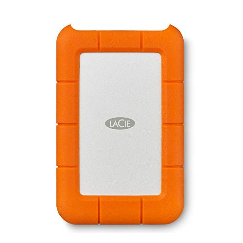 LaCie Rugged Mini 4TB External HDD – USB 3.0 for Windows and Mac, Drop Shock Dust Rain Resistant Portable Hard Drive with 1 Month Adobe CC All Apps Plan (LAC9000633)