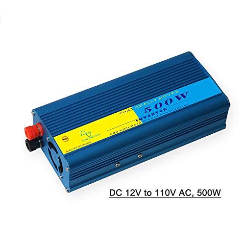 dodocool Power Inverter Vehicle Power Converter Universal Pure Sine Wave DC 12V to 110V AC, 500W
