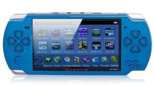 Maa Durga Portable Pocket PSP Adventure Handheld Console Toy Game for Kids (Blue)