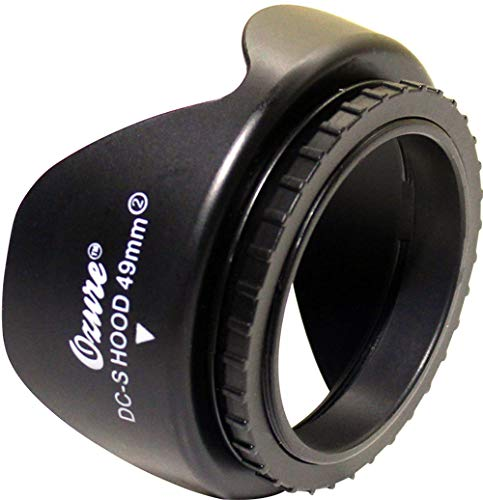 Ozure DC-S Lens Hood (49mm) Compatible with Canon EF50mm F/1.8 STM Lens - Will Fit to All 49mm Camera Lenses - Compatible with All Major Brand Camera Lenses Having 49mm Filter Thread