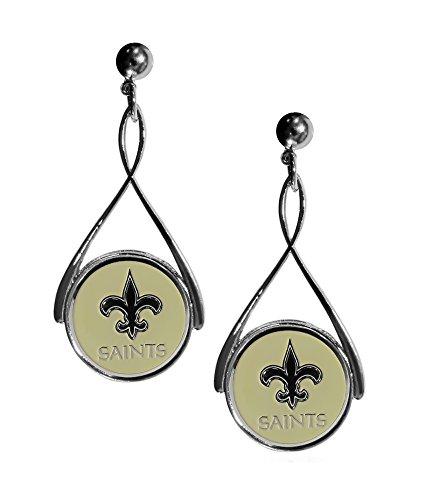 Siskiyou NFL Orleans Saints Tear Drop Earrings