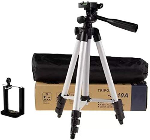 NNPRO Tripod-3110 Portable Adjustable Aluminum Lightweight Camera Stand with Three-Dimensional Head Tripod(Silver, Black, Supports Up to 3000 g)( TRPD-14 )
