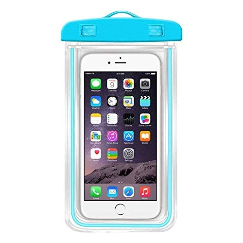 TPS Waterproof Sealed Transparent Bag with Underwater Pouch Phone Case (Color May Vary)