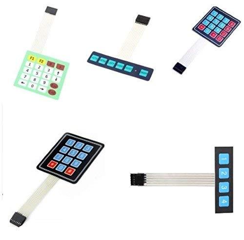 3NH® 4 * 4 : 4x3/4x5/1x6/1x4 Keys Matrix Keyboard Array Membrane Switch Keypad Keyboard New