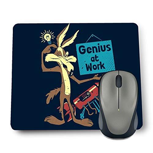 Shop-buz Printed Non Slip Rubber Designer Mouse Pads (220 mm x 180 mm x 3 mm) Multicolor (Genius at Work)