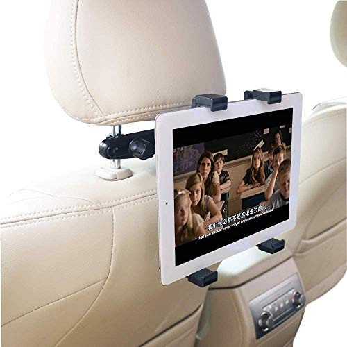 Ceuta Retails®, Car Headrest Mount Holder Rotating Cradle Back Seat Dock Stand for iPad/Samsung Tab and Other Tablets
