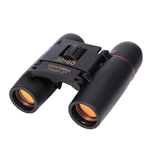 JEEJEX 30x60 Waterproof/Fogproof Roof Prism Binoculars,Portable Mini Compact Telescope for Bird Watching,Traveling,Concerts High Powered Binoculars | for Both Adults & Kids, Waterproof (Black)