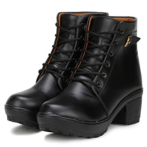 FASHIMO Women's Boots 777-black-36