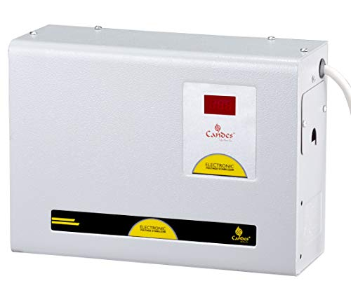 Candes Crystal 5kVA AC 90V to 290V Voltage Stabilizer with Wide Working Range for Inverter AC, Split AC or Windows AC upto 2.5 Ton