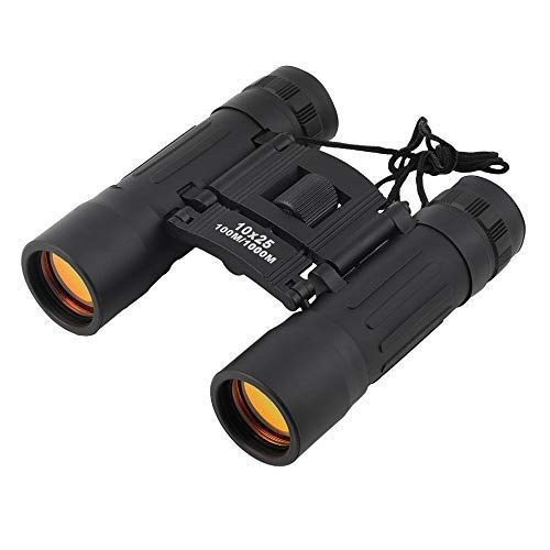 TOKEZO Portable Mini Pocket 10x25 Binoculars with Powerful Lens with 10x Magnification 101 to 1000m Field of View for Sports, Hunting, Camping, Concerts, etc.