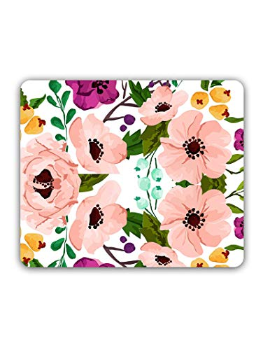 Madanyu Designer Mousepad Non-Slip Rubber Base for Gamers - HD Print - Cute Pink Flowers So Girly