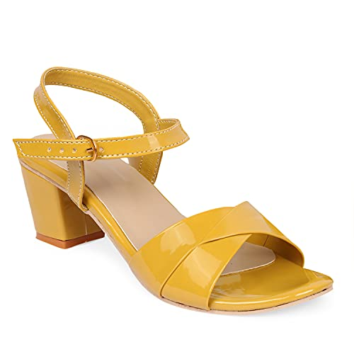 Fashimo Women's Fashion Striped Sandals Wedges For Women And Girls Z-3-Yellow-38