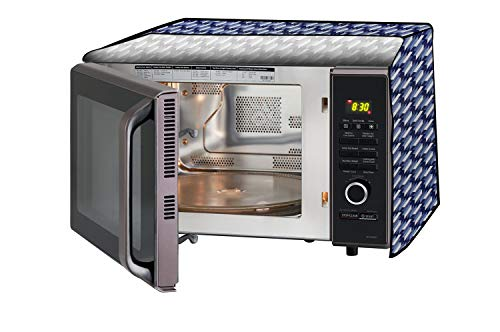 Stylista Microwave Oven Cover for IFB 30 L Convection 30BRC2 Symmetric Pattern Blue