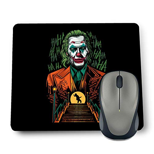 Shop-buz Printed Non Slip Rubber Designer Mouse Pads Cartoon/Girls (220 mm x 180 mm x 3 mm) Multicolor (Green Joker)