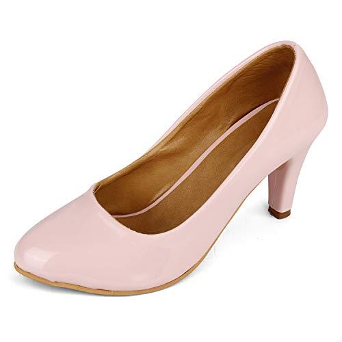 FASHIMO Women's Heel Bellies 8186-lightpink-41