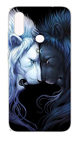 BFA Creation Lion Black and White Printed Mi Note 7 pro Mobile Soft Mobile Back Cover Case for Boys Mi Note 7 pro