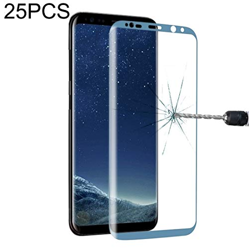 LIDGRHJTHTGRSS Mobile Phone Accessories Screen Protectors 25 PCS Full Screen Tempered Glass Screen Protector for Galaxy S8 / G9500 (Black) (Color : Black)
