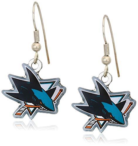 aminco NHL San Jose Sharks Dangler Earrings
