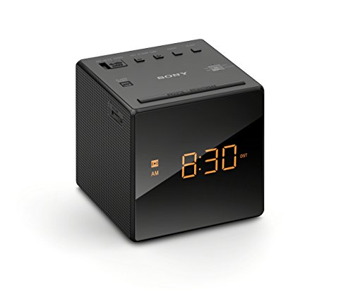 (Renewed) Sony ICFC1 Alarm Clock Radio Black