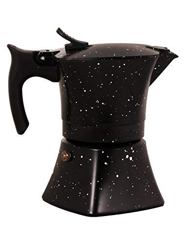 3d Creations 6 Cups Aluminium Polished South Indian Filter Degree Coffee Machine (Royal Black)