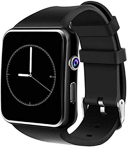 AYBOR Smart Watch X6 Bluetooth Compatible with All Mobile Phones for Boys and Girls (Black, X6)