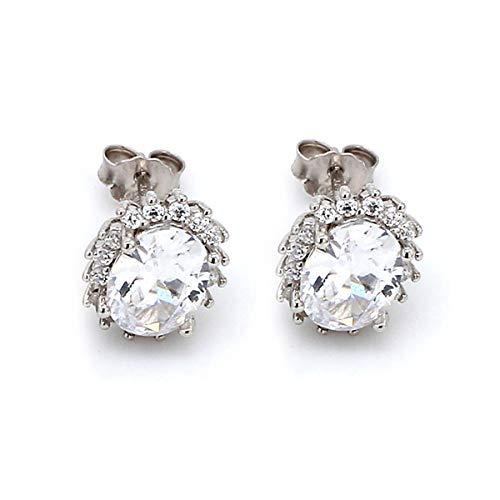 Ornate Jewels Pure 925 Sterling Silver Cubic Zirconia Dressy Shimmering Earrings Studs For Women 1288
